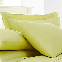 Home Collection - Lime cotton rich percale Oxford pillow case pair