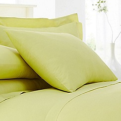 Home Collection - Lime cotton rich percale pillow case pair