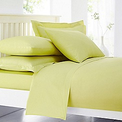 Home Collection - Lime cotton rich percale duvet cover