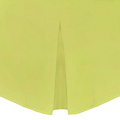 Home Collection - Lime cotton rich percale valance sheet