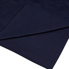 Home Collection - Navy cotton rich percale flat sheet