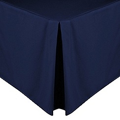 Home Collection - Navy cotton rich percale valance sheet