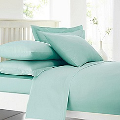 Home Collection - Turquoise cotton rich percale duvet cover