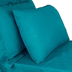 Home Collection - Blue cotton rich percale bed linen