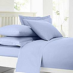 Home Collection - Pale blue cotton rich percale 180 thread count duvet cover