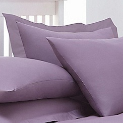 Home Collection - Lilac cotton rich percale Oxford pillow case pair