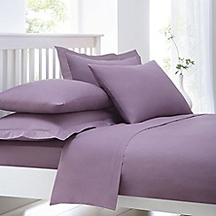 Home Collection - Lilac cotton rich percale duvet cover