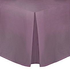 Home Collection - Lilac cotton rich percale valance sheet