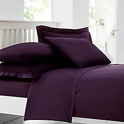 Home Collection - Plum cotton rich percale duvet cover