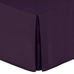 Home Collection - Plum cotton rich percale valance sheet