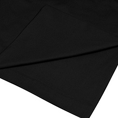 Home Collection - Black cotton rich percale flat sheet