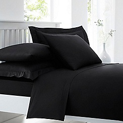 Home Collection - Black cotton rich percale duvet cover