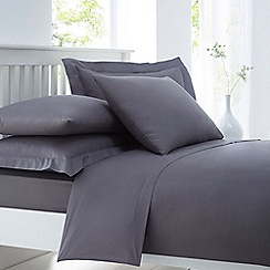 Home Collection - Grey cotton rich percale duvet cover