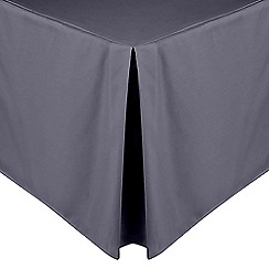 Home Collection - Grey cotton rich percale valance sheet