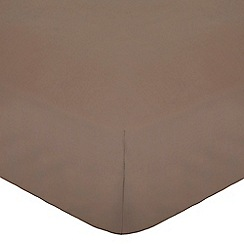 Home Collection - Light brown cotton rich percale fitted sheet