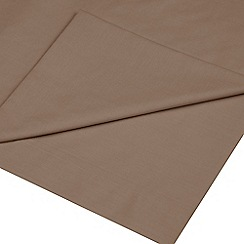 Home Collection - Light brown cotton rich percale flat sheet