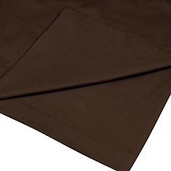 Home Collection - Dark brown cotton rich percale flat sheet