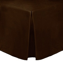 Home Collection - Dark brown cotton rich percale valance sheet