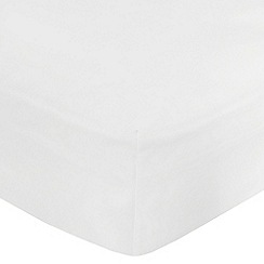 Home Collection - White cotton rich percale deep fitted sheet
