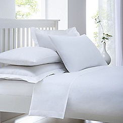 Home Collection - White cotton rich percale duvet cover