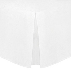 Home Collection - White cotton rich percale valance sheet