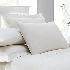 Home Collection - Cream cotton rich percale Oxford pillow case pair
