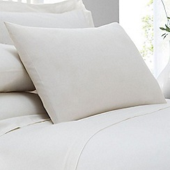 Home Collection - Cream cotton rich percale pillow case pair