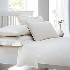 Home Collection - Cream cotton rich percale duvet cover