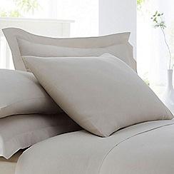 Home Collection - Natural cotton rich percale Oxford pillow case pair