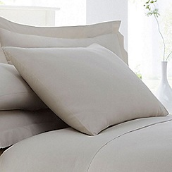 Home Collection - Natural cotton rich percale pillow case pair
