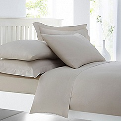 Home Collection - Natural cotton rich percale duvet cover