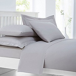 Home Collection - Silver cotton rich percale flat sheet