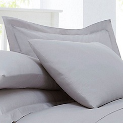 Home Collection - Silver cotton rich percale Oxford pillow case pair