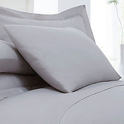 Home Collection - Silver cotton rich percale pillow case pair