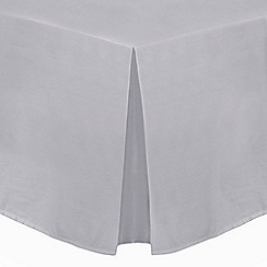 Home Collection - Silver cotton rich percale valance sheet