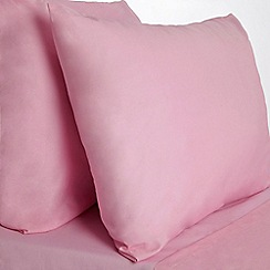 Home Collection Basics - Pink polycotton bed sheets