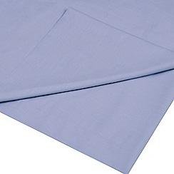 Home Collection Basics - Light blue polycotton flat sheet