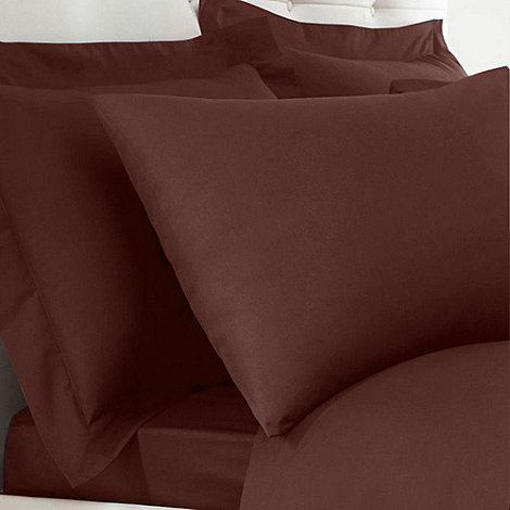 Home Collection - Chocolate 200 thread count Egyptian cotton Oxford pillow case pair