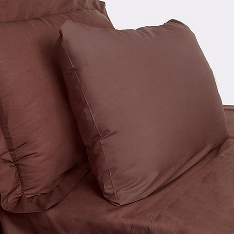 Debenhams - Chocolate 200 thread count Egyptian cotton fitted sheet