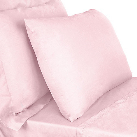 Debenhams - Light pink 200 thread count Egyptian cotton fitted sheet