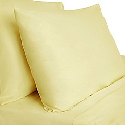 Debenhams - Yellow Egyptian cotton percale bed linen