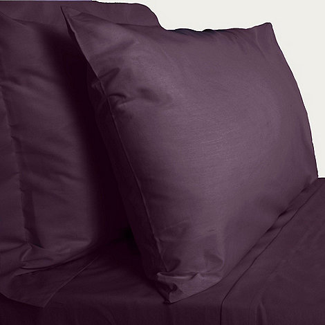 Debenhams - Purple 200 thread count Egyptian cotton fitted sheet