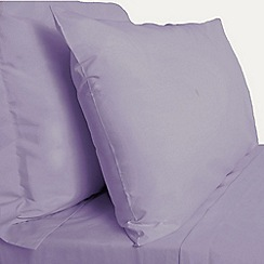 Debenhams - Light purple Egyptian cotton bed linen