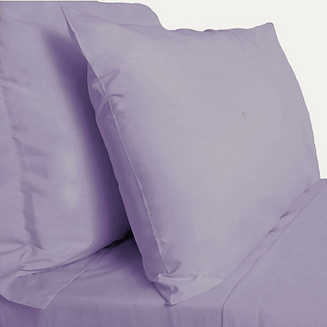 Debenhams - Light purple 200 thread count Egyptian cotton fitted sheet