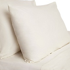 Debenhams - Ivory Egyptian cotton bed linen