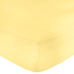Home Collection - Yellow 200 thread count Egyptian cotton fitted sheet