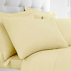 Home Collection - Yellow 200 thread count Egyptian cotton pillow case pair