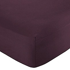 Home Collection - Purple Egyptian cotton 200 thread count fitted sheet
