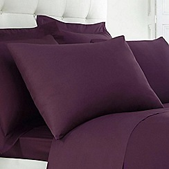 Home Collection - Purple Egyptian cotton 200 thread count pillow case pair