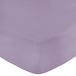 Home Collection - Light purple Egyptian cotton 200 thread count fitted sheet